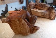 Solík z dreva do interieru,umelecký