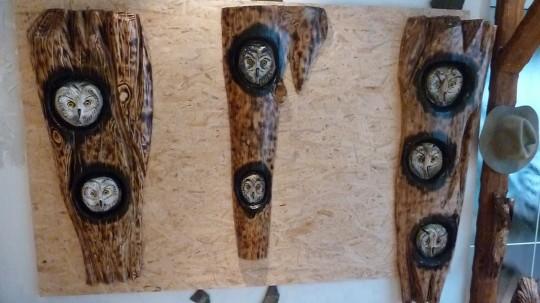 drevené sovy na stenu