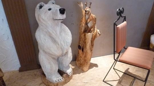 drevený medveď + veverička