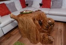 Drevený stolík do interieru,umelecky spracovaný 500€