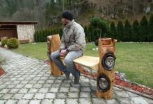 Drevená umelecká lavica 600 eur