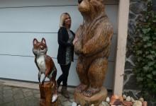 Drevený medveď a líška