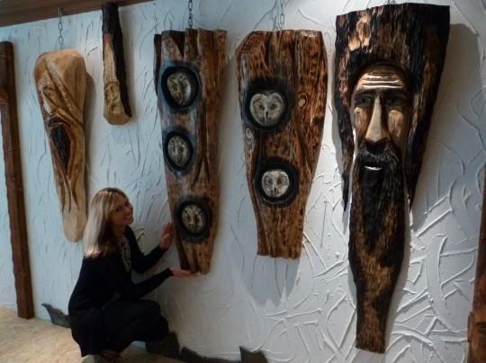 dekorácie na stenu z dreva