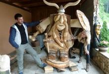 Drevený viking 3500€