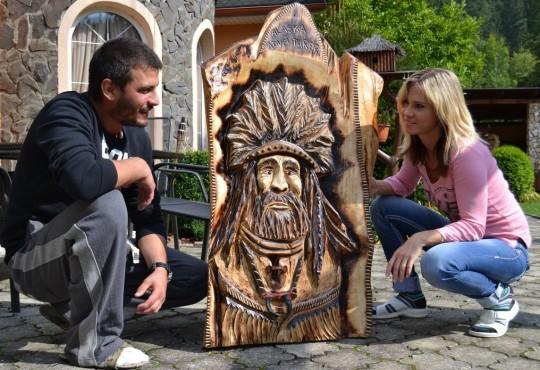 drevený obraz