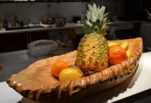 Drevená miska na ovocie