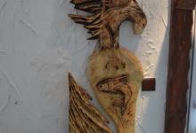 Drevený obraz orol