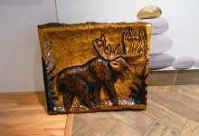Drevený obraz losa