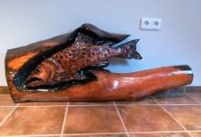Drevená ryba, obraz na stenu
