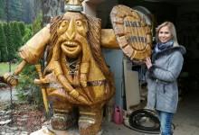 Drevený viking