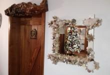 Zrkadlo do interieru z mušlí