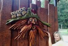 Drevená brána