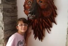 Hlava medveďa,dekorácia