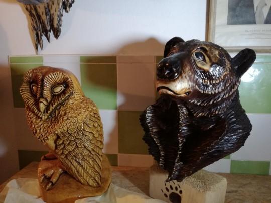 Drevené sochy zvierat