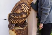 Drevená socha orla