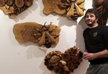 Drevená včielka a srdce na stenu ako dekorácia