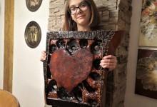 Drevené srdce na stenu